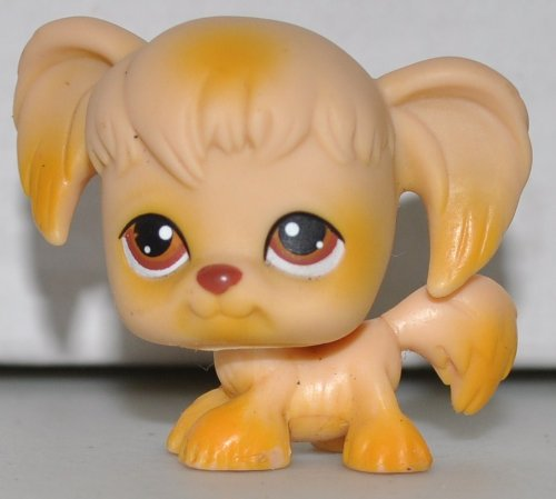 Spaniel #26 (Cocker Spaniel, Tan, Brown Eyes) Littlest Pet Shop (Retired) Collector Toy - LPS Collectible Replacement Single Figure - Loose (OOP Out of Package & Print)