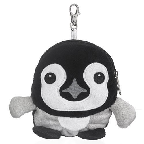 Emperor Penguin Chick Stuffed Animal Plush Pouch Purse Animal Case Clip on Bag Animal Zipper Pouch Wallet Bag