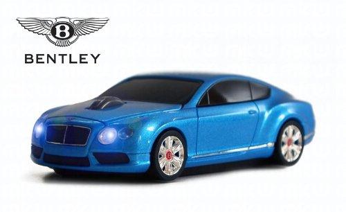 Bentley Continental GT V8 Wireless Auto-Mouse (Blu) Senza fili ottico