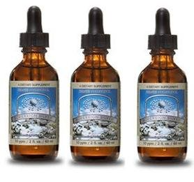 Sovereign Silver 2 oz. Dropper 10PPM (Pack of 3) Liquid Nano Hydrosol Silver