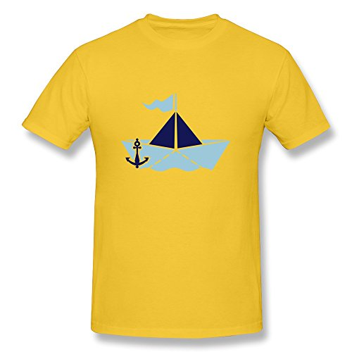 Paper Boat Printing Machine 100% Cotton Tshirts For Man'S front-824638