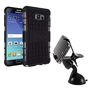 Aart Hard Dual Tough Military Grade Defender Series Bumper back case with Flip Kick Stand for Samsung NOTE 2 + Car Mobile Holder Mount Bracket Holder Stand 360 Degree Rotating by Aart store.