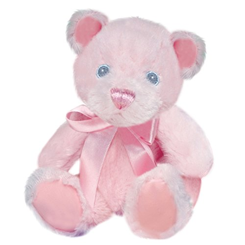 First & Main Pink Pastel Pal Teddy Bear Plush in Sitting Position 6""