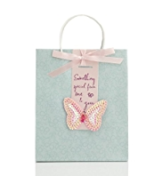 Butterfly Sequins Medium Bag