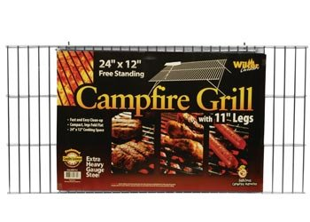 """Campfire Grill Grid With Folding Legs, 12""""X24"""""""