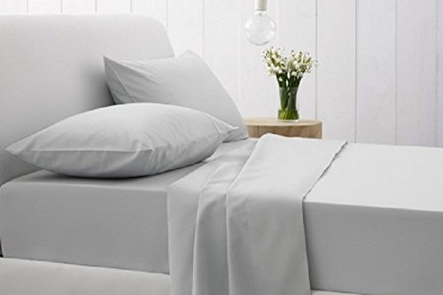 100% Egyptian Cotton 1 Piece Flat Sheet,1 Piece Fitted Sheet (Fits upto 21 to 25 inches Extra Deep Pocket) & 4 Pillow cases Solid Pattern 1200 Thread Count ( Queen , Silver Grey ) (Taken 202 compare prices)