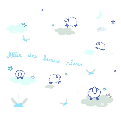 Stickers bebe moutons pas cher for Stickers mouton chambre bebe