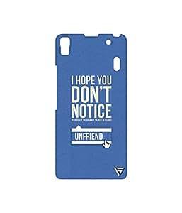 Vogueshell I Hope You DonÍt Notice Printed Symmetry PRO Series Hard Back Case for Lenovo A7000