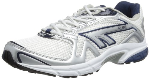 Hi-Tec Mens R156 (Co) Running Shoes A001742/013/01 White/Silver/Navy 10 UK, 44 EU