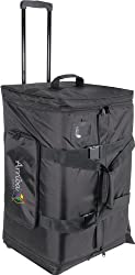 Arriba Cases As-175 Padded Rolling Pro Speaker Transport Bag Dimensions 17.5X15X27.5 Inches by American DJ Group of Companies