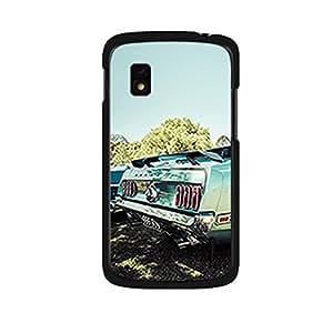 Vibhar printed case back cover for Nexus 4 VintageBlue