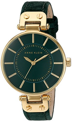 anne-klein-womens-lucy-quartz-watch-with-green-dial-analogue-display-and-green-leather-strap-ak-n221