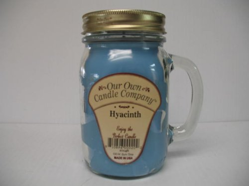 13oz HYACINTH Scented Jar Candle (Our Own Candle Company Brand) Made in USA - 100 hr burn