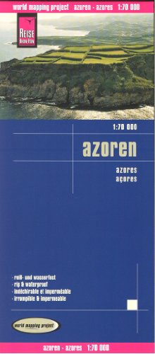 Azores 1:70,000 Hiking & Cycling Map, waterproof, GPS-compatible, REISE (Cycling Portugal compare prices)