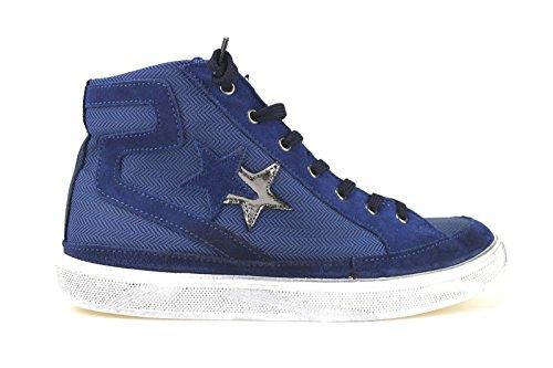 scarpe uomo 2 STAR 40 EU sneakers blu camoscio tessuto AJ789