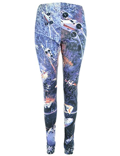 Star Wars -  Leggings  - Donna Blau-Mehrfarbig X-Large