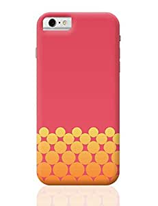 PosterGuy iPhone 6 / iPhone 6S Case Cover - Gradient Circles - Fire | Designed by: Yash Banka