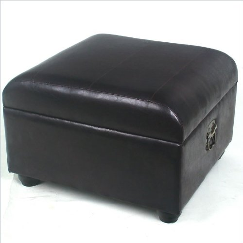 Sensational Buy Faux Leather Square Chocolate Ottoman Bmmoresmoss Gmtry Best Dining Table And Chair Ideas Images Gmtryco