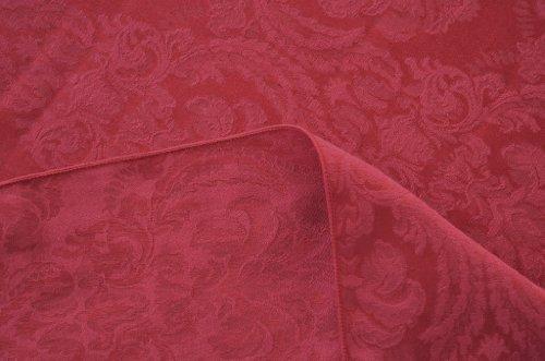 ASD Living Damask Fleur de Lis Round Tablecloth, 90-Inch, Wine