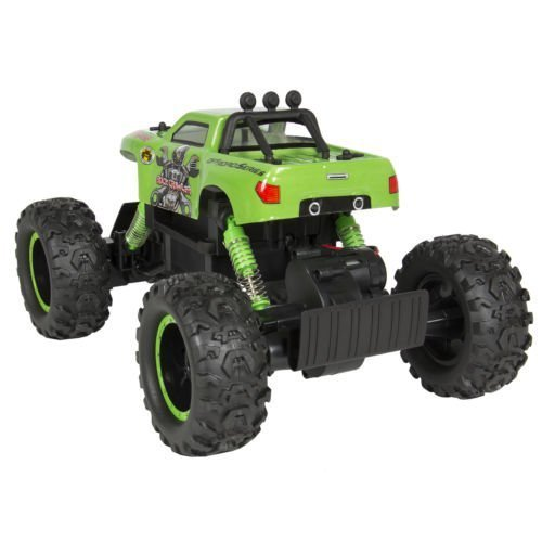 New Powerful Remote Control Truck RC Rock Crawler, 4x4 Drive & Monster Wheels Green (Rc Monster Truck With Camera compare prices)