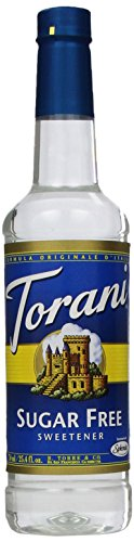 Torani Sugar Free Syrup, Sweetener, 25.4 Ounce (Pack Of 4)