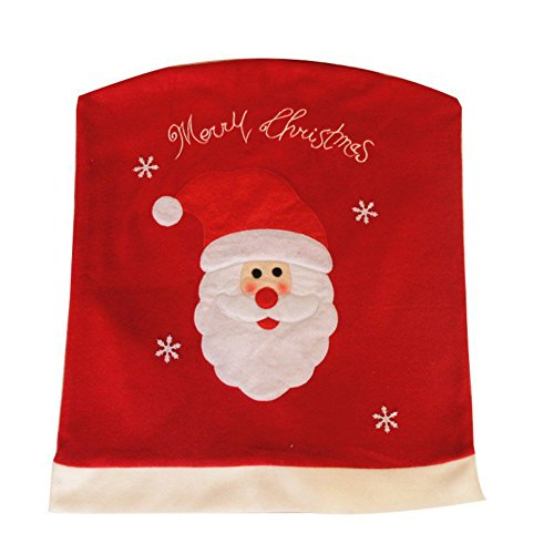 Santa Clause Red Chair Back Cover Christmas