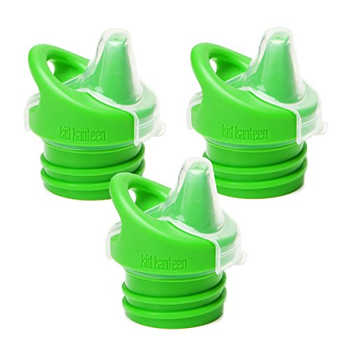 Klean Kid Kanteen Sippy Bottle Cap, Green, 3 Pack (Klean Kanteen Sippy Cap compare prices)