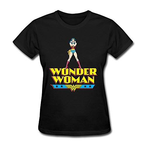 AOPO Wonder Woman WW LOGO T-shirt For Women