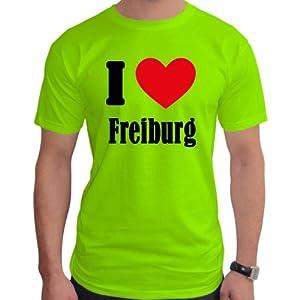 I Love Freiburg Neon Herren T-Shirt