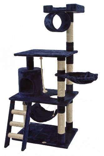 Go Pet Club 62-Inch Cat Tree, Blue