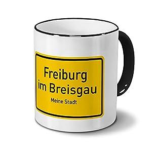 Städtetasse Freiburg im Breisgau - Design Ortsschild