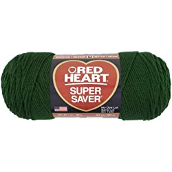 Red Heart Super Saver Economy Yarn, Hunter Green