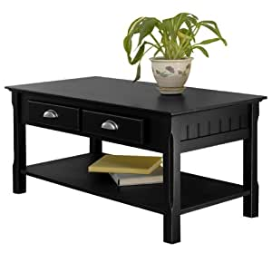Timber Coffee Table And End Table Set In Black Beechwood Kitchen Dining