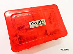 ATRIM Ultimate Electronics Kit DIY Components Resistors, Breadboard, Wires, Capacitors, Transistors (RED)