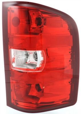 Evan-Fischer EVA15672021310 Tail Light Passenger Side RH Plastic lens OE design Clear and red DOT, SAE approved (2008 Silverado Taillights compare prices)