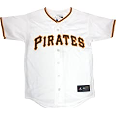 Pittsburgh Pirates Youth Home White Replica Majestic Blank Jersey - Medium by Pittsburgh Pirates