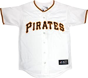 Pittsburgh Pirates Youth Home White Replica Majestic Blank Jersey - XL by Pittsburgh Pirates