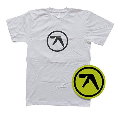 APHEX TWIN LOGO T-Shirt White Lサイズ [特大ロゴ・ステッカー封入] (BRT033L)