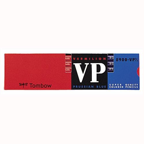 トンボ鉛筆 赤青鉛筆 8900VP 丸軸 8900-VP7/3 朱藍7:3 1ダース
