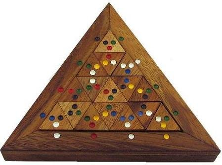 Cheap Winshare and Games Color Match Triangle Wooden Puzzle Brain Teaser (B005IDO7AS)
