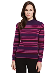 Classic Cashmilon™ Striped Metallic Effect Jumper
