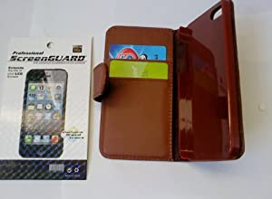 Black Top Flip Case For Apple Iphone 4 4S Case Includes Screen Protector, Supergets Screen Wiper , Stylus And Polishing Cloth