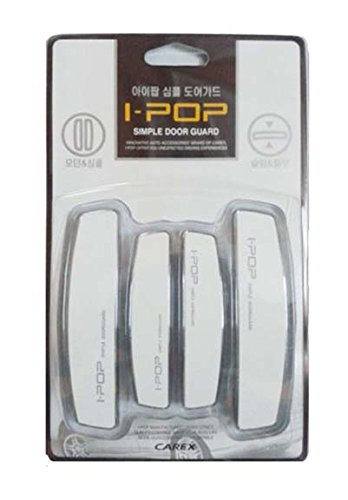 Vheelocityin 70086 i-pop Simple White Car Door Scratch Guard Protector (Set of 4)