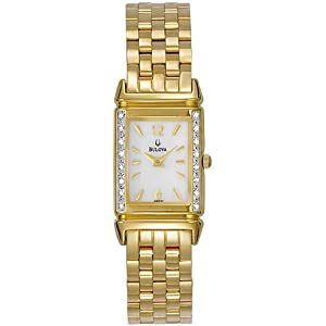 bulova diamond gold tone ladies watch 98r121 amazon ca