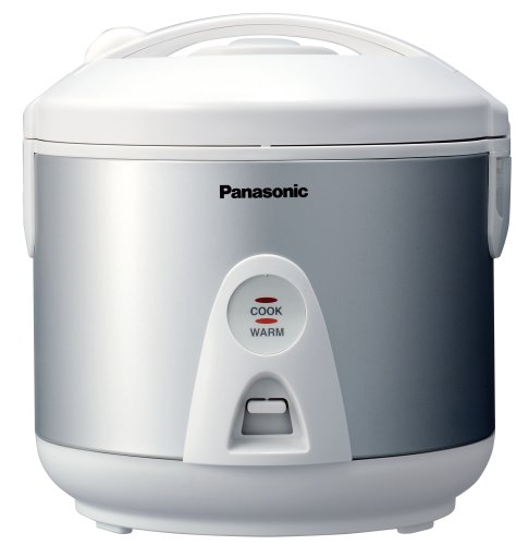 Panasonic SRTEG10 5.5-Cup Electronic Rice Cooker/Steamer, White/Silver