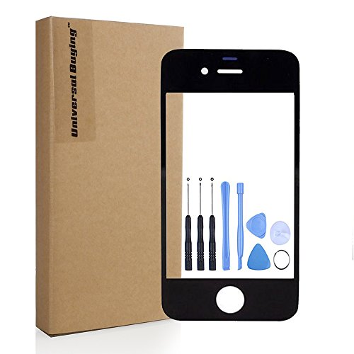 Screen Replacement, Universal Buying(TM) iPhone 4 4s Repair Front Fitted LCD Outer Glass Lens Touch Screen Digitizer Protective Cover with Free Tools,black (Black Iphone 4 Front Glass compare prices)