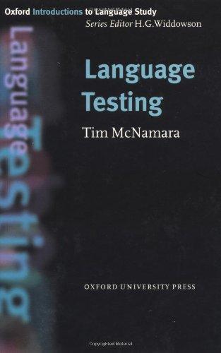 Language Testing (Oxford Introduction to Language Series)