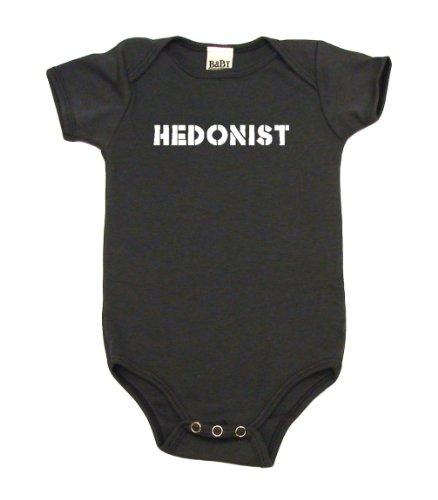 Hedonist On Infant Onesie, 3-6 Mo, Asphalt front-988807