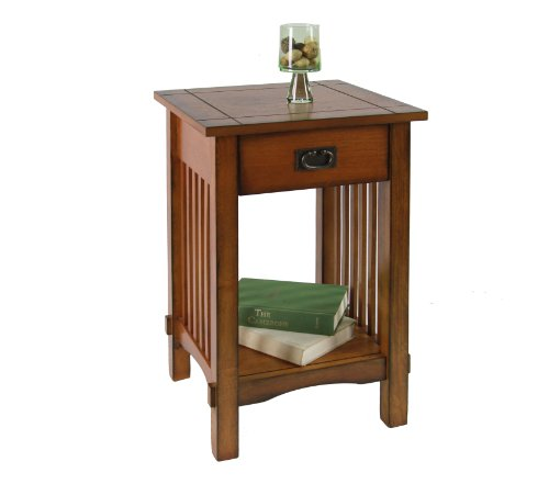 Cheap Enitial Lab Liverpool 1-Drawer End Table, Antique Oak (IDF-AC209)