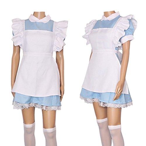 CoolChange costume da infermiera cosplay con grembiule e laccio nero per i capelli. Misura: M